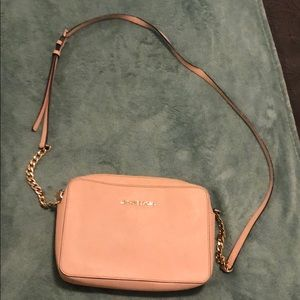 Light pink Michael Kors side purse